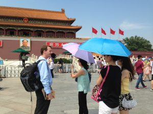 Find out about Tiananmen Square on your way to the Forbidden City.